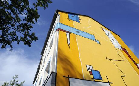 Giebelmalerei, Wandmalerei, Hauswandgestaltung - Bunte ...